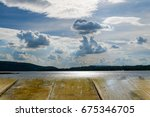 sky background with river and... | Shutterstock . vector #675346705
