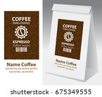 paper packaging with label for... | Shutterstock .eps vector #675349555