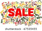 sale surrounded by lots of... | Shutterstock .eps vector #67535455