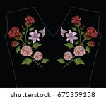 embroidery stitches with...   Shutterstock .eps vector #675359158