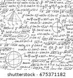 mathematical vector seamless...   Shutterstock .eps vector #675371182