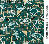 seamless pattern with hand...   Shutterstock . vector #67538056
