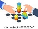 two mans play in chess with... | Shutterstock .eps vector #675382666