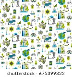 ecology concept  green energy ... | Shutterstock .eps vector #675399322