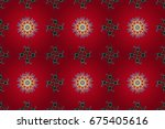 flowers on colored background.... | Shutterstock . vector #675405616