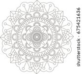mandala. coloring book pages. | Shutterstock .eps vector #675421636