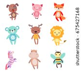 Cute Colorful Soft Plush Anima...