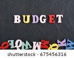 word on black board background... | Shutterstock . vector #675456316