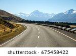 aoraki mount cook viewpoint... | Shutterstock . vector #675458422