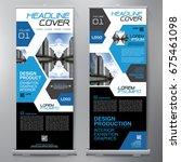 business roll up. standee... | Shutterstock .eps vector #675461098