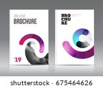 magazine cover layout design... | Shutterstock . vector #675464626
