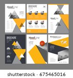 brochure layot set for business.... | Shutterstock . vector #675465016