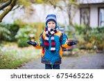 Little School Kid Boy Of...