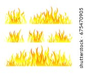 vector graphic flames... | Shutterstock .eps vector #675470905