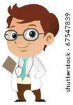 cute little male doctor   Shutterstock .eps vector #67547839