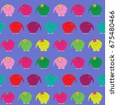 cute seamless pattern with a... | Shutterstock .eps vector #675480466