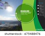 abstract vector modern cover...   Shutterstock .eps vector #675488476
