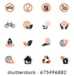 earth day web icons for user... | Shutterstock .eps vector #675496882