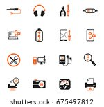 electronics repair web icons... | Shutterstock .eps vector #675497812