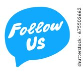 follow us. flat vector hand... | Shutterstock .eps vector #675503662