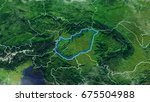 map of hungary elements of this ... | Shutterstock . vector #675504988