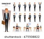 set of business man character... | Shutterstock .eps vector #675508822