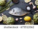 Fresh Raw Sea Bream Fish...