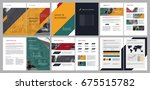 design annual report  cover ... | Shutterstock .eps vector #675515782