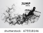 jump from the particles. jumper ... | Shutterstock .eps vector #675518146