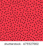 watermelon seeds summer... | Shutterstock .eps vector #675527002