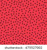watermelon seeds summer... | Shutterstock .eps vector #675527002