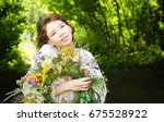 pretty young woman in... | Shutterstock . vector #675528922
