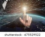 global network. 3d rendering... | Shutterstock . vector #675529522
