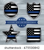 american flag badges and... | Shutterstock .eps vector #675530842