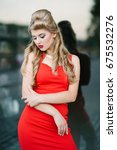 beauty fashion lady in red... | Shutterstock . vector #675532276