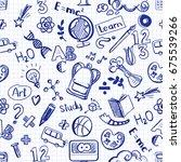 back to school seamless vector... | Shutterstock .eps vector #675539266