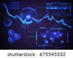 hud futuristic interface ui... | Shutterstock .eps vector #675545332