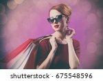photo of beautiful young woman... | Shutterstock . vector #675548596