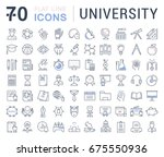 set of line icons  sign and... | Shutterstock . vector #675550936