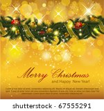 christmas background with... | Shutterstock .eps vector #67555291