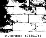 grunge texture of large brick... | Shutterstock .eps vector #675561766