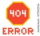 error page 404 pixel retro game ...   Shutterstock .eps vector #675562516