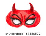 Devil Mask Isolated On The...