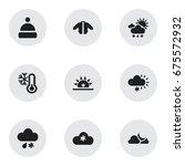 set of 9 editable air icons....