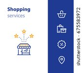 shop services  store opening ... | Shutterstock .eps vector #675583972
