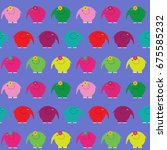 cute seamless pattern with a... | Shutterstock . vector #675585232