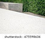 modern outdoor garden... | Shutterstock . vector #675598636