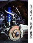 race car disc brake and blue... | Shutterstock . vector #675609262