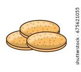 cookies chocolate chips | Shutterstock .eps vector #675621055
