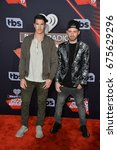 Small photo of LOS ANGELES, CA - MARCH 5, 2017: Timeflies - Rob Resnick & Cal Shapiro - at the 2017 iHeartRadio Music Awards at The Forum, Los Angeles